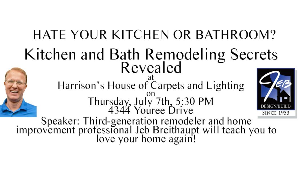 Join us at our July 7th Seminar at Harrison's House of ...