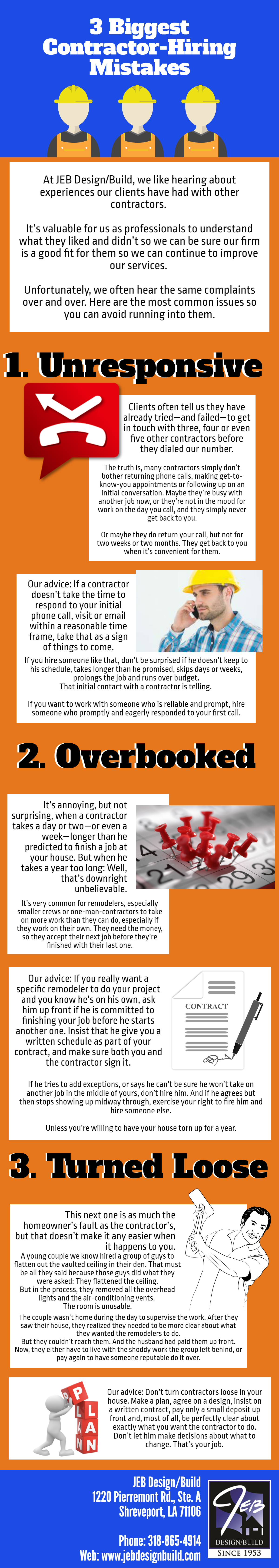 3 Contractor-Hiring Mistakes [Infographic] | Jeb Design Build